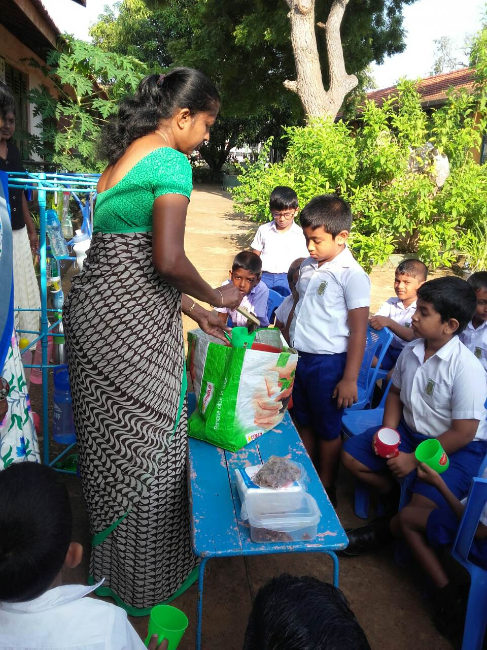 Determined to lead by example the teachers at the school strives to provide the students with a nutritious breakfast using sustainably grown produce from the school's garden